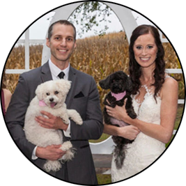 Groom and Bride With pets